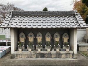 新堂大工町墓地(富田林市)の六地蔵さん