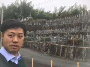 甘南備墓地(富田林市)でお墓の確認