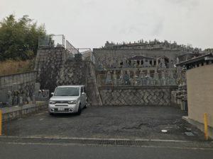 富田林市廿山墓地の駐車場