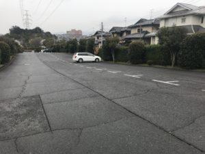 大阪狭山市西山霊園の駐車場