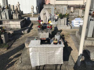 合祀墓建立の為の遷仏法要イン菱江西方墓地 東大阪市