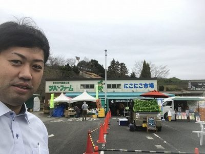 大阪石材南大阪店店長がサバーファームにて