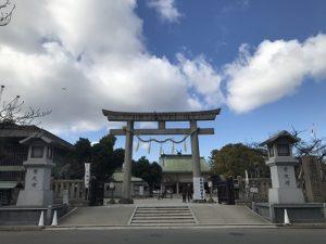 大阪石材で奉納した『結の玉』を観に生國魂神社へ