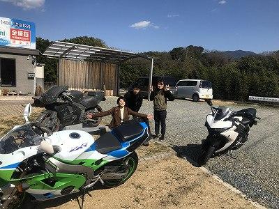 4月に入社予定の人が 石のバイクで有名な南大阪店に!