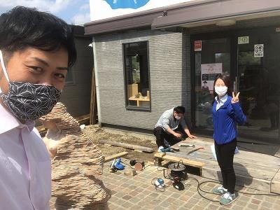DIY課長が南大阪店のウッドデッキを改修