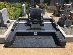 富田林市にある山中田墓地にてお墓の建て替え