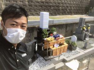 加太町墓地でお墓の開眼式