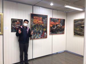 堺市西区文化会館でだんじりの油絵展