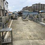 羽曳野市南宮墓地でお墓の撤去と基礎工事