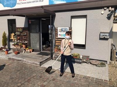 南大阪店で拭き掃除